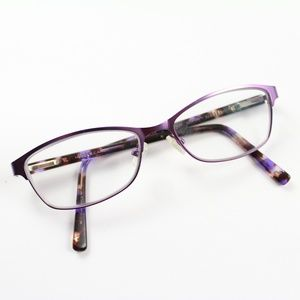 Hard Candy HC21 Purple Metal Plastic Eyeglasses